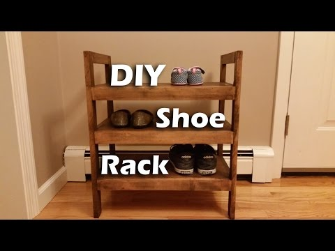 How I Made a #Rustic-ish Shoe Rack with Leftover Wood
