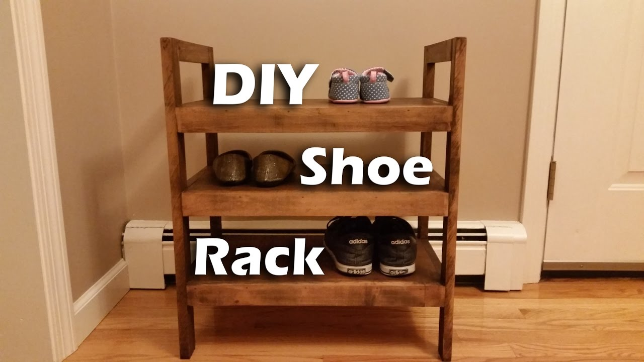 Rustic Ish Shoe Rack With Leftover