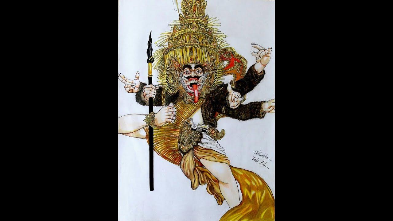 Sket Gambar Ogoh Ogoh SIWER MAS Banjar Tainsiat Full Body
