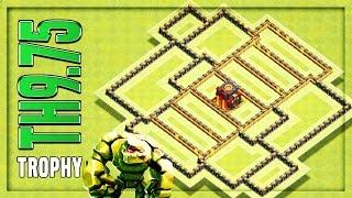 TH9.75 TROPHY Base | Anti 2 Star War Base #3 🔸 No Inferno 🔸 Clash of Clans