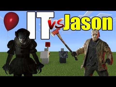IT vs Jason (Pennywise vs Jason Voorhees) | Minecraft PE