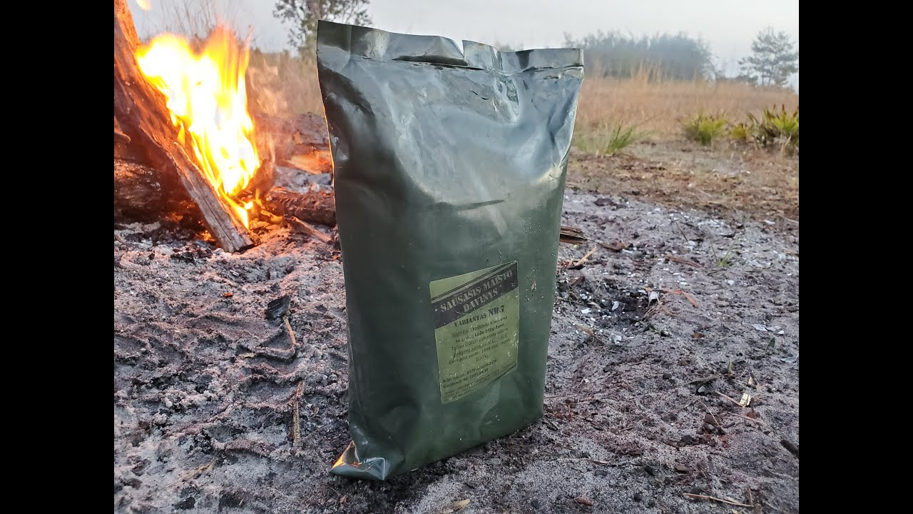 Download Camping with Lithuanian Food Rations Daytime & Nighttime Outdoor MRE Review Field Test