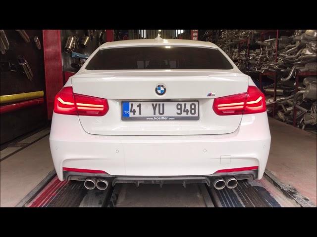 BMW F30 3.18 DİZEL KUMANDALI VAREX EGZOZ SESİ