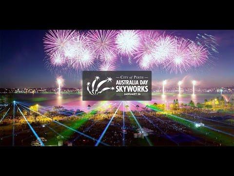 Perth City Australia Day 2015 Skyworks HD