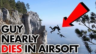 Airsoft Player falls off Cliff