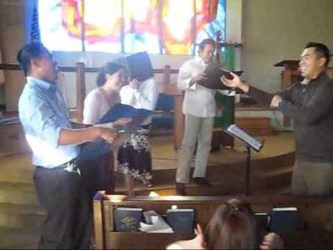 Hallelujah chorus bloopers (team practice)