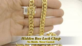 9mm Miami Cuban Link Box Lock Chain Hd Hand Made Custom Daniel Jewelry Inc