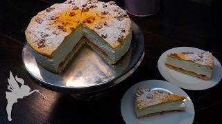 Klassische Flockensahne - Flockensahne Torte - Mürbeteig, Brandteig & Sahne - Kuchenfee
