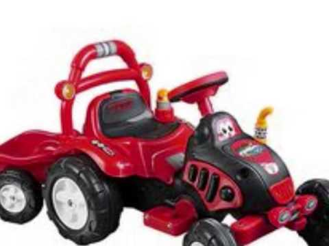 Lil Rider Battery Ed Farm N Fun Tractor And Trailer Toy