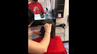 Этапы работы женская стрижка ТОП Мастер Виктория Феденко салон красоты La Familia salon Бровары