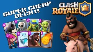 HOG RIDER OP!!  Clash Royale: Battle Decks  Ep 12 - Super Cheap Deck  |2100 Trophies|