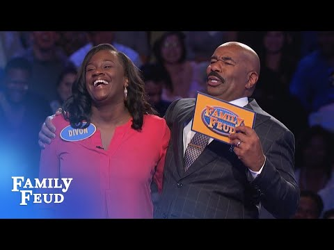 HYSTERICAL Fast Money - Don't miss the ENDING!!!   Family Feud