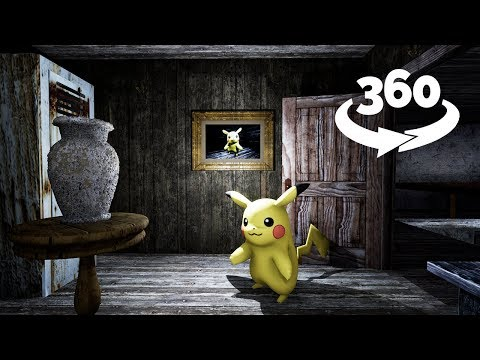 360 Video || We found POKEMONS in Granny's House VR !