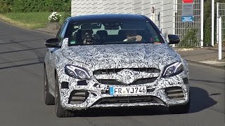 2017 Mercedes-AMG E63 pushing hard during testing on the Nordschleife!