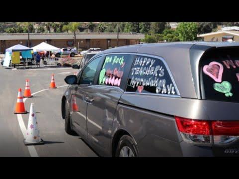 Fuerte Elementary School Staff Appreciation Week Parade - Social Distancing