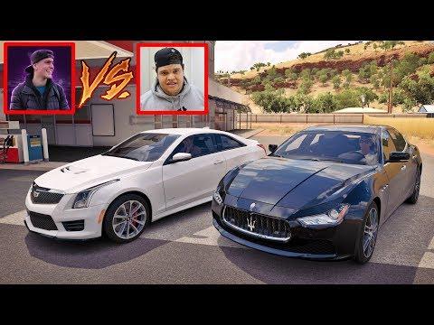 Edukof VS Jon Vlogs - MASERATI GHIBLI VS CADILLAC - Forza Horizon 3 Online - ZOIOOGAMER
