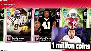 1 MILLION COIN PACK OPENING FOR SERIES REDUX - Madden 20