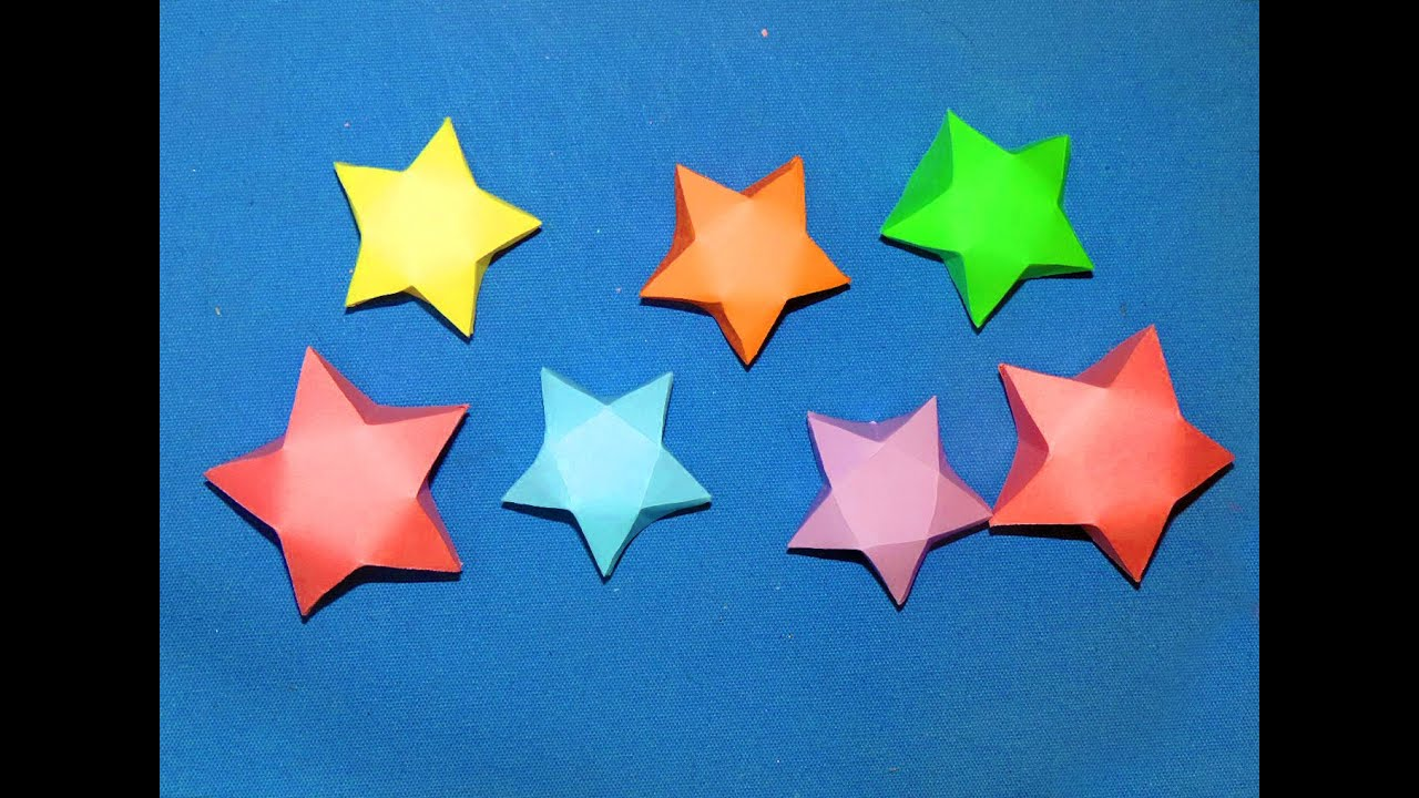 DIY Paper Stars ( EASY ) - YouTube