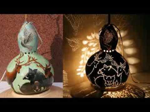 Gourd Lamps By Serka Www Gourdlamps Com Youtube