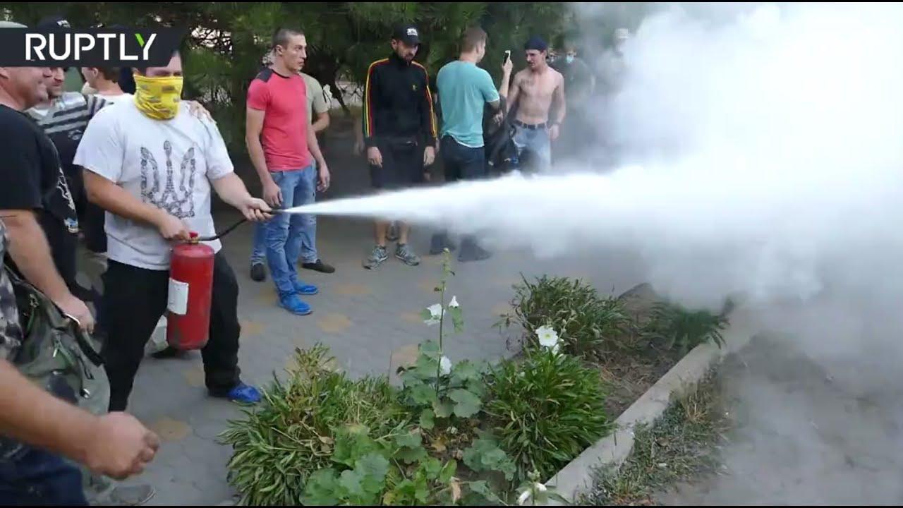 Националисты устроили беспорядки после оправдания судом фигурантов дела о событиях 2 мая в Одессе