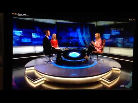 RTE Prime Time programme, including interview with Bill Fisher.
