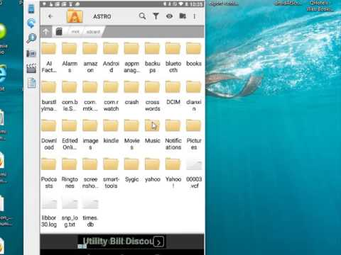 Using The Astro File Manager
