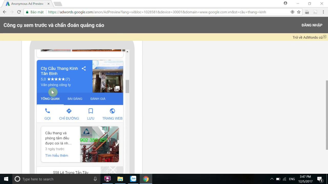 [nhonmy.com] hướng dẫn kiểm tra từ khóa quảng cáo google trên máy tính, máy tính bảng, di động