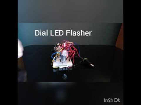Dial LED Flasher , LED light on / off (satisfying)