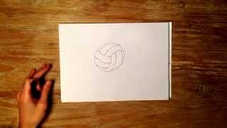 How to Draw a Volleyball
