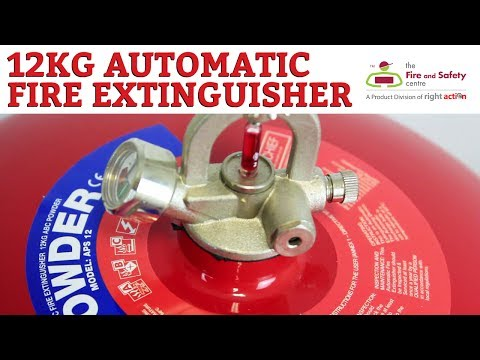 Automatic Fire Extinguisher - 12kg Dry Powder