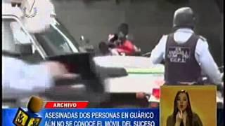 Motorizados asesinan a dos estudiantes en Valle de La Pascua sin mediar palabras