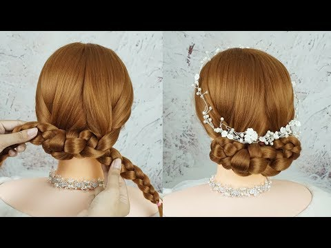 Quick And Easy Bridal Hairstyles For Wedding | Braided Updo Hairstyles Tutorials | Try On Hairstyle thumbnail