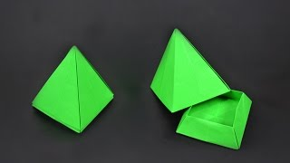 Origami: Pyramid Box - Instructions in English (BR)