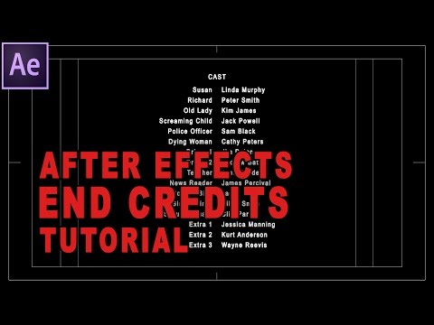 After Effects Tutorial - How To Create Professional Rolling End Credits For Your Film