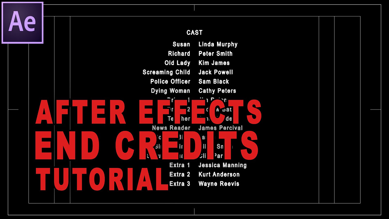 Beste After Effects Credits Vorlage Zeitgenössisch - Entry Level ...