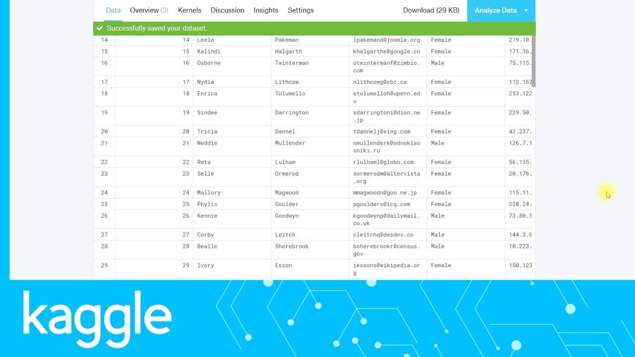 Getting Started on Kaggle: Uploading a dataset | Kaggle
