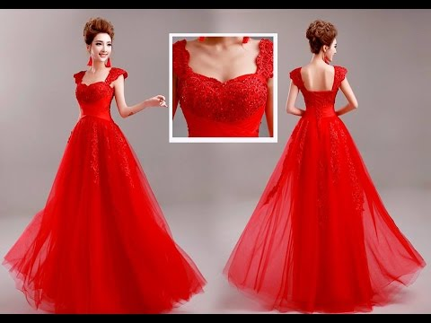 94ef4105a اجمل فساتين الطويلة للاعراس و السهرات و الحفلات Beautiful wedding dresses