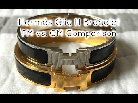3dc4c86c27 Hermès Clic H Bracelet PM vs GM - YouTube