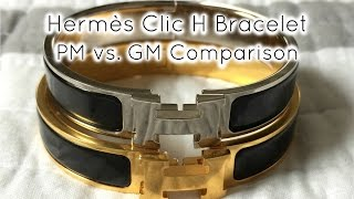 Hermès Clic H Bracelet PM vs GM(, 2015-12-03T03:25:09.000Z)