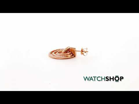 Folli Follie Jewellery Ladies' Rose Gold Plated Sterling Silver Cyclos CZ Earrings (5040.2974)