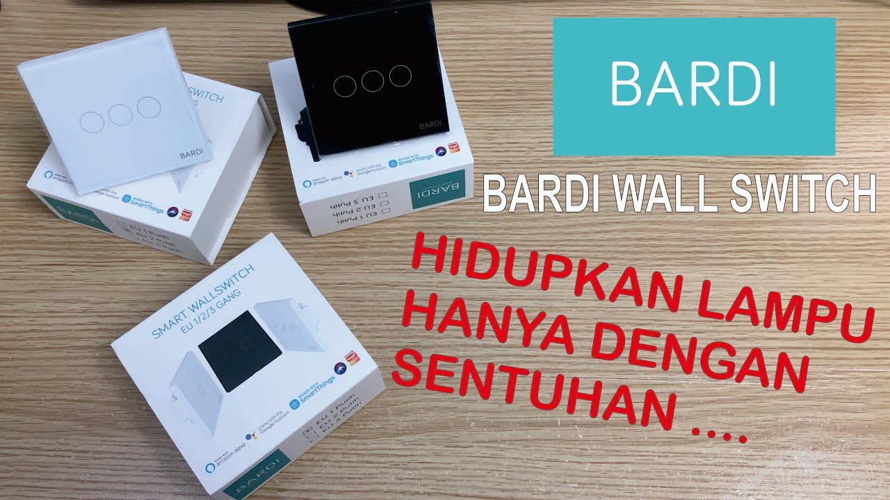 BARDI Smart WiFi Touch Wallswitch