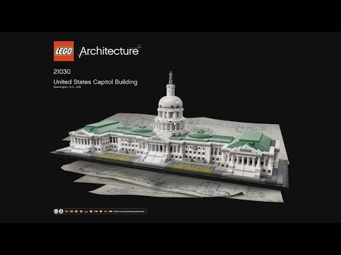 LEGO Architecture 21030 United States Capitol Building - instruction timelapse