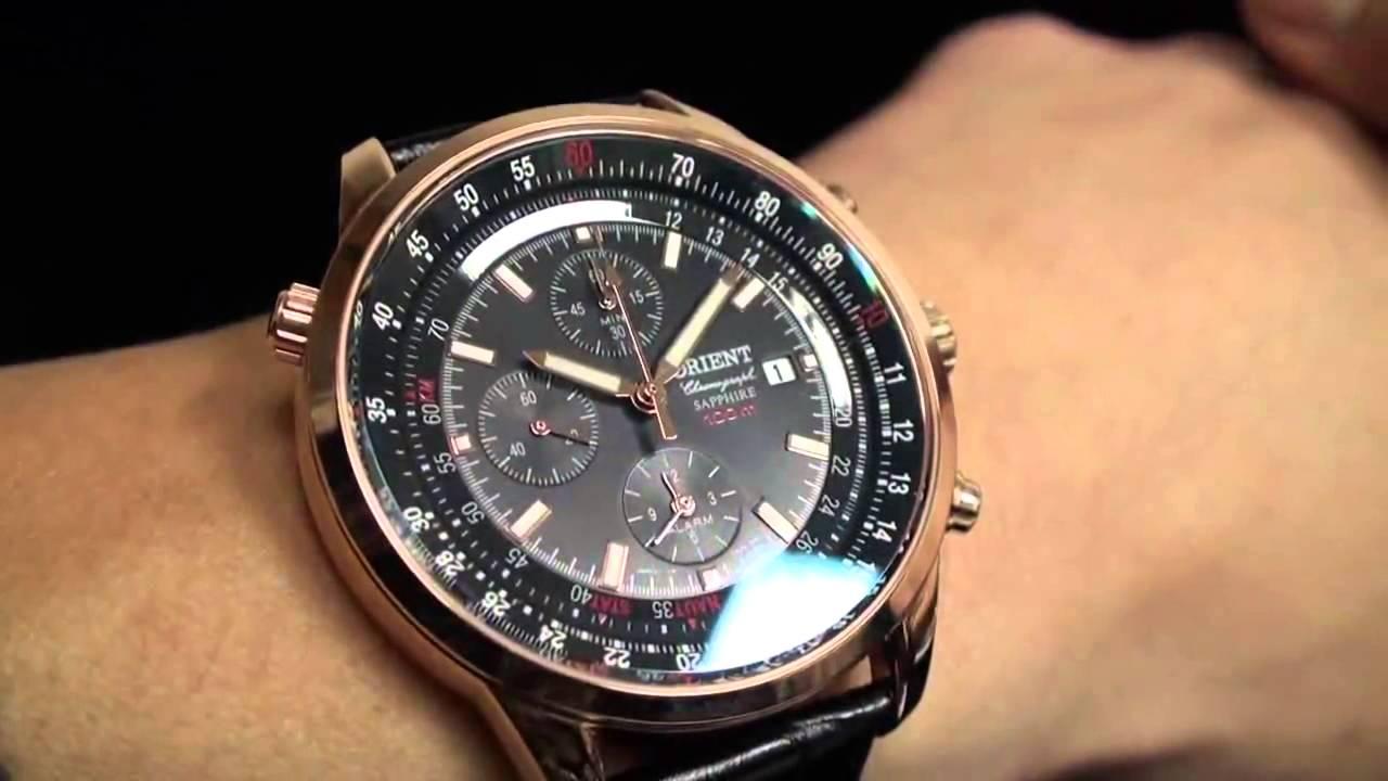 Orient Chronograph Quartz Watch Ctd09004b Youtube