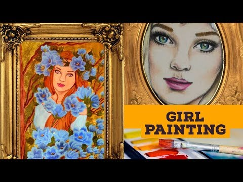 GIRL Painting: Acrylic Painting on canvas for beginners (2019)