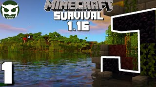 Minecraft 1.16 Survival Lets Play - A WILD START! | Ep 1