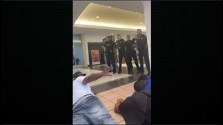 Police Arrive At Mall And Find Out It's A False Report So They Decide To Hold Barbers At Gunpoi