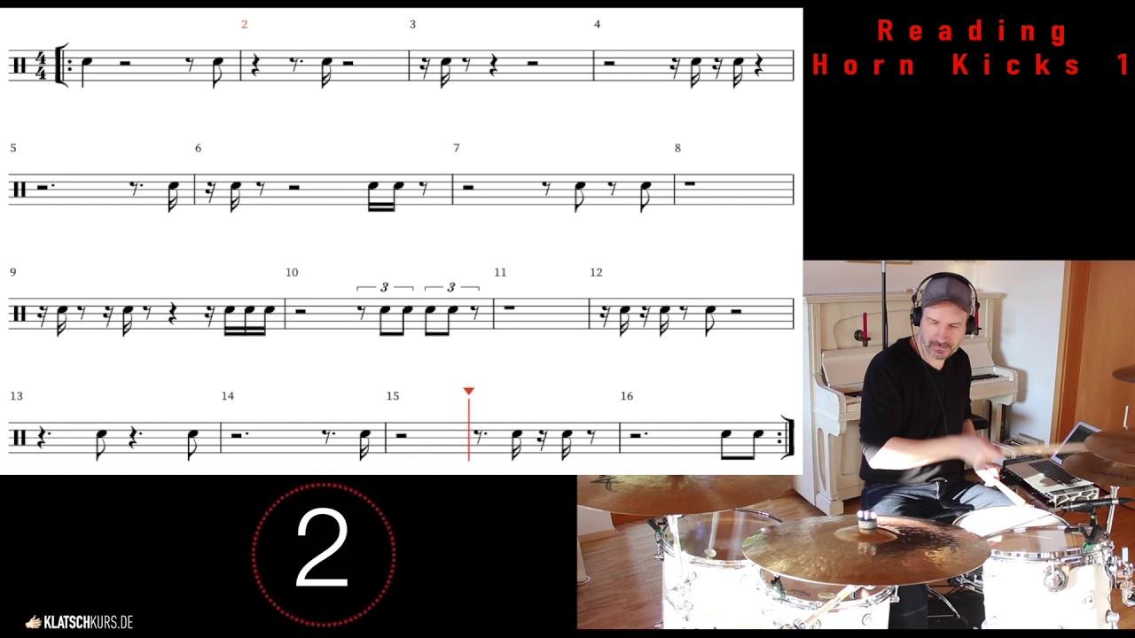 Reading Horn Kicks 1, 100bpm, Full - Klatschkurs - Rhythm Reading - by Kristof Hinz