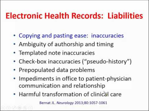 James Bernat, M.D. - Ethical and Quality Pitfalls of the Electronic Health Record