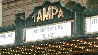 For a donation, Tampa Theatre will put community names and messages on its marquee