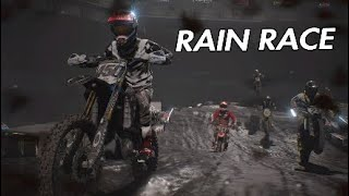 Monster Energy Supercross rain gameplay.RAIN RACE!
